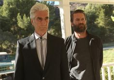 "Sam Elliott as Avery Markham and Garret Dillahunt as Ty Walker in ""Justified."" 