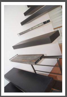 Escalier escatwin escapi quart tournant en bois et - Escalier suspendu leroy merlin ...