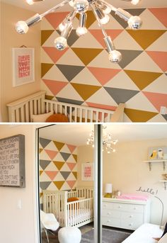 Love! Love! Love! I need this geometric wall!