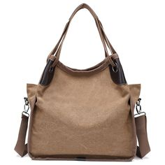 Women Quality  Canvas Casual Large Capacity Handbag Shoulder Bag Crossbody Bag  Worldwide delivery. Original best quality product for 70% of it's real price. Hurry up, buying it is extra profitable, because we have good production sources. 1 day products dispatch from warehouse. Fast &...