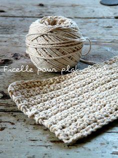 crochet/ dessous de plat