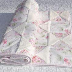 simply shabby chic baby blanket crib quilt white w pink cherry rh pinterest com