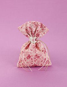 Μπομπονιέρα Γάμου Floral Πουγκί με Καρδιά ((1,65€))