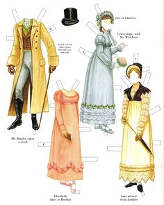 Pride and Prejudice paper dolls.