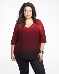 dip dye tunic blouse