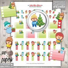 Christmas Stickers, Planner Stickers, Christmas Checklist, Christmas Flags, Printable Planner Stickers, Planner Accessories, Diy