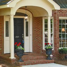 """Curb Appeal- open shades, interior lighting, """"fill, spill, and thrill"""" planters, solar lights along walkway, fresh mulch, freshly pressure washed- goodbye, house. Hello, Home! Homemaking, Interior Design Blog, Staging, DIY: Home Staging -- Why to Create Curb Appeal"""