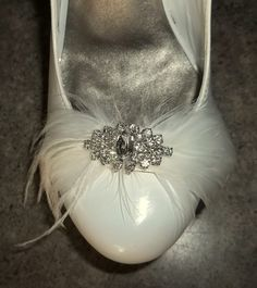 Bridal Shoe Clips  set of 2  with sparkling by ShoeClipsOnly, $48.00