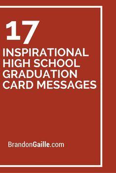 19 best graduation greetings images on pinterest in 2018 grad 17 inspirational high school graduation card messages m4hsunfo