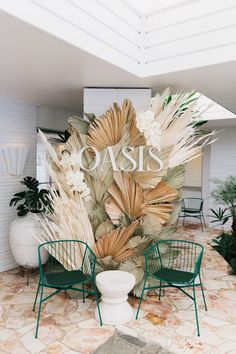 Celebrating Spell Oasis in Byron Bay Spell & the Gypsy Collective Backdrop idea for photo booth Celebrazione dell& Incantesimo a Byron Bay Paper leaf flower A Pair & A Spare House of Fraser, London // In collaboration with Harlequin Design // May 2015 Art