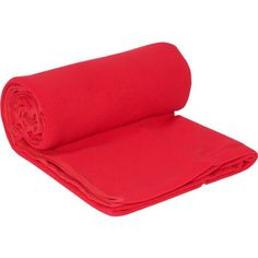 Travelon Healthy Travel Anti-Microbial Fleece Blanket - Red