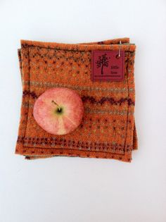 primitive felted wool potholders / hotpads by littletreehandmade, $16.00