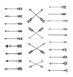 Doodle Tribal Arrows Clipart: 23 vector arrows por BlackCatsMedia