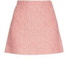 Gucci Tweed A-line mini skirt (£525) ❤ liked on Polyvore featuring skirts, mini skirts, bottoms, gucci, saias, high-waist skirt, high waisted skirts, short a line skirt, tweed skirt and short mini skirts