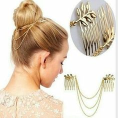 I just discovered this while shopping on Poshmark: NEW LEAVES HAIR CUFF PIN CLIP. Check it out!  Size: OS