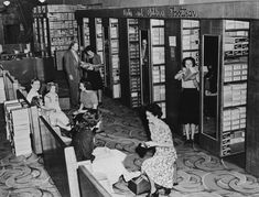 Shoe department in the Cribb and Foote department store, 1949 / John Oxley Library, State Library of Queensland, Neg: 102801 http://hdl.handle.net/10462/deriv/92266   thefashionarchives.org