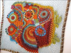 Colourful Free-form crochet © Irene Lundgaard 2012