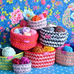 Crochet pattern ByClaire baskets - Free Crochet Patterns at Yarnplaza.com