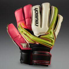 Reusch Argos Deluxe G2 Ortho-Tec GK Gloves - Lime/Pink