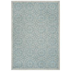 Safavieh Jade Aqua/Grey Indoor/Outdoor Area Rug & Reviews | Wayfair UK