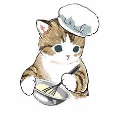 Ciao, Salut — par Mofusand Wallpaper Gatos, Kitten Drawing, Dibujos Cute, Cute Animal Drawings, Cute Illustration, Cute Stickers, Cat Art, Cute Cats, Creations