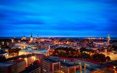 Magical lights of Tallinn, Estonia
