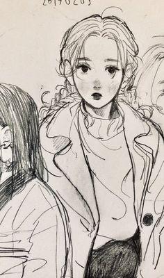 Drawing Animals in the Zoo - Drawing On Demand Easy Pencil Drawings, Anime Drawings Sketches, Cool Drawings, Cartoon Kunst, Cartoon Art, Pretty Art, Cute Art, Drawn Art, Arte Sketchbook