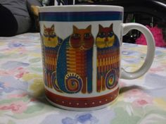 Laurel Burch Rainbow Cousins 1988 Mug Made in Japan   eBay
