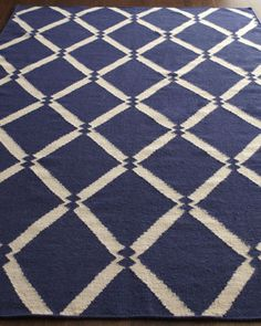Blue Diamond Rug at Horchow.
