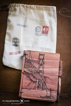San Francisco Red Cedar Wooden Journal and Pen Set
