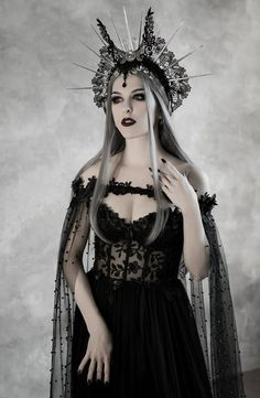 dresses black corset Dark Fairytale Wedding Dress with Cupped Corset Bodice ~ Gothic Black Bridal Gown ~ Halloween Vampire Cape ~ Wiccan Fantasy Wedding Cloak Vampire Wedding, Gothic Wedding, Lace Wedding, Medieval Wedding, 1920s Wedding, Trendy Wedding, Dream Wedding, Dark Beauty, Gothic Beauty