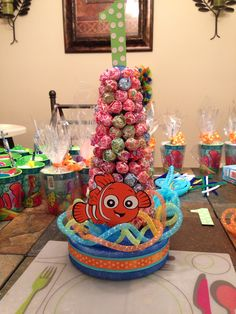 My Nemo kids table centerpiece