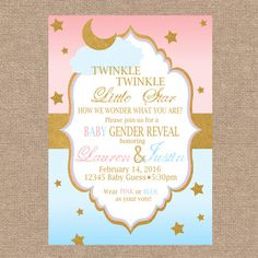 Twinkle twinkle little star baby shower invitation twinkle twinkle baby gender reveal invitation twinkle twinkle by kendyllraes filmwisefo