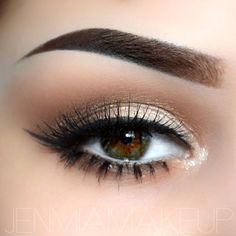 Soft Brown Eyeshadow.: