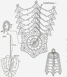 Crochet Angels, Crochet Stars, Crochet Snowflakes, Crochet Diagram, Crochet Motif, Crochet Designs, Crochet Lamp, Thread Crochet, Crochet Christmas Ornaments