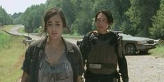 "In the episode ""Us"", she injured her ankle and clearly had trouble walking, yet Glenn ignored this and insisted that their group continue trying to catch up to Maggie. Description from deadloggers.wordpress.com. I searched for this on bing.com/images"
