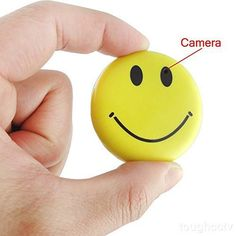 Mengshen HD Mini Spy Smile Face Badge Wearable Hidden Camera Cool Spy Gadget Mini DV DVR Camcorder Video Recorder ** You can get more details by clicking on the image. (This is an affiliate link) Smiley Happy, Happy Smile, Spy Gadgets, Cool Gadgets, Gadgets Shop, Spy Video Camera, Dvr Camera, Tech Gifts For Men, Baby Tech