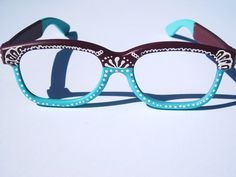 05af23f2b94 Items similar to Hand Painted Dual-Tone Glasses Frames - Henna Inspired on  Etsy