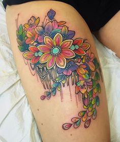 Floral Thigh Piece