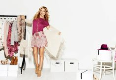 """Kate for Lindex–American actress Kate Hudson is the new face of Lindex's spring-summer 2014 campaign, and also serves as the muse for the new collection. Hudson is all smiles in the advertising images photographed by Giampaolo Sgura. The star has signed on for three collections total, the first of which will be available online and in Lindex stores starting on March 19th. """"This collection is so fresh and unique,"""" says Kate about the collaboration."""