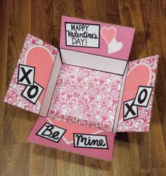 Valentine's Day Care Package Box by OneDayCloserDesign on Etsy gift package This item is unavailable Valentines Day Care Package, Cute Valentines Day Gifts, Valentine Day Boxes, Cute Birthday Gift, Valentines Gifts For Boyfriend, Diy Birthday, Homemade Valentines, Creative Gifts For Boyfriend, Cute Boyfriend Gifts