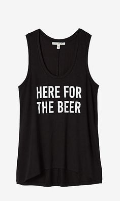 express one eleven here beer graphic tank