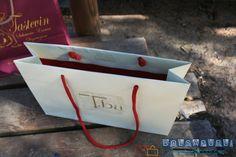 Bolsas de papel estucado lujo con cordón de algodón