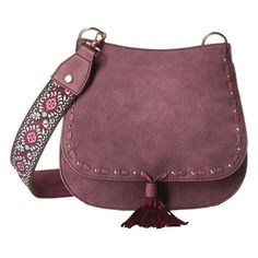 Steve Madden Bswiss Saddle Bag w/ Guitar Berry Shoulder Strap Bag, Crossbody Shoulder Bag, Leather Crossbody, Leather Bag, Crossbody Bag, Leather Purses, Purple Handbags, Purses And Handbags, Handbags On Sale