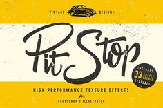 PitStop - Subtle Texture Effects by Ian Barnard on @creativemarket