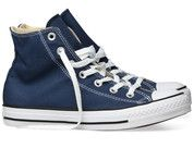 Blauwe Converse sneakers All Star Hi gympen
