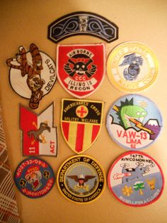 10 DIFF MILITARY PATCHES-LOT    22