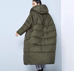 New Arrival Winter 2016 women casual loose cocoon coat thick x long hooded white duck down jacket Aw18 Trends, Coats For Women, Jackets For Women, Cool Coats, Duck Down Jacket, White Ducks, Oversized Coat, Down Coat, Sweater Coats