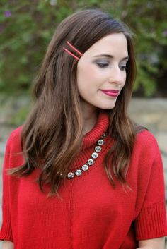 red bobby pins