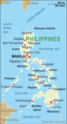 Philippines map......Dr. Viccencio is Glebe and lives in Manhattan.  She said Esrailda and the kids can move in with her.  I thought it was a good idea.  I like Estailda and her 2 daughters are cute but the older one is mean but the younger one is cute and happy like Esrailda.